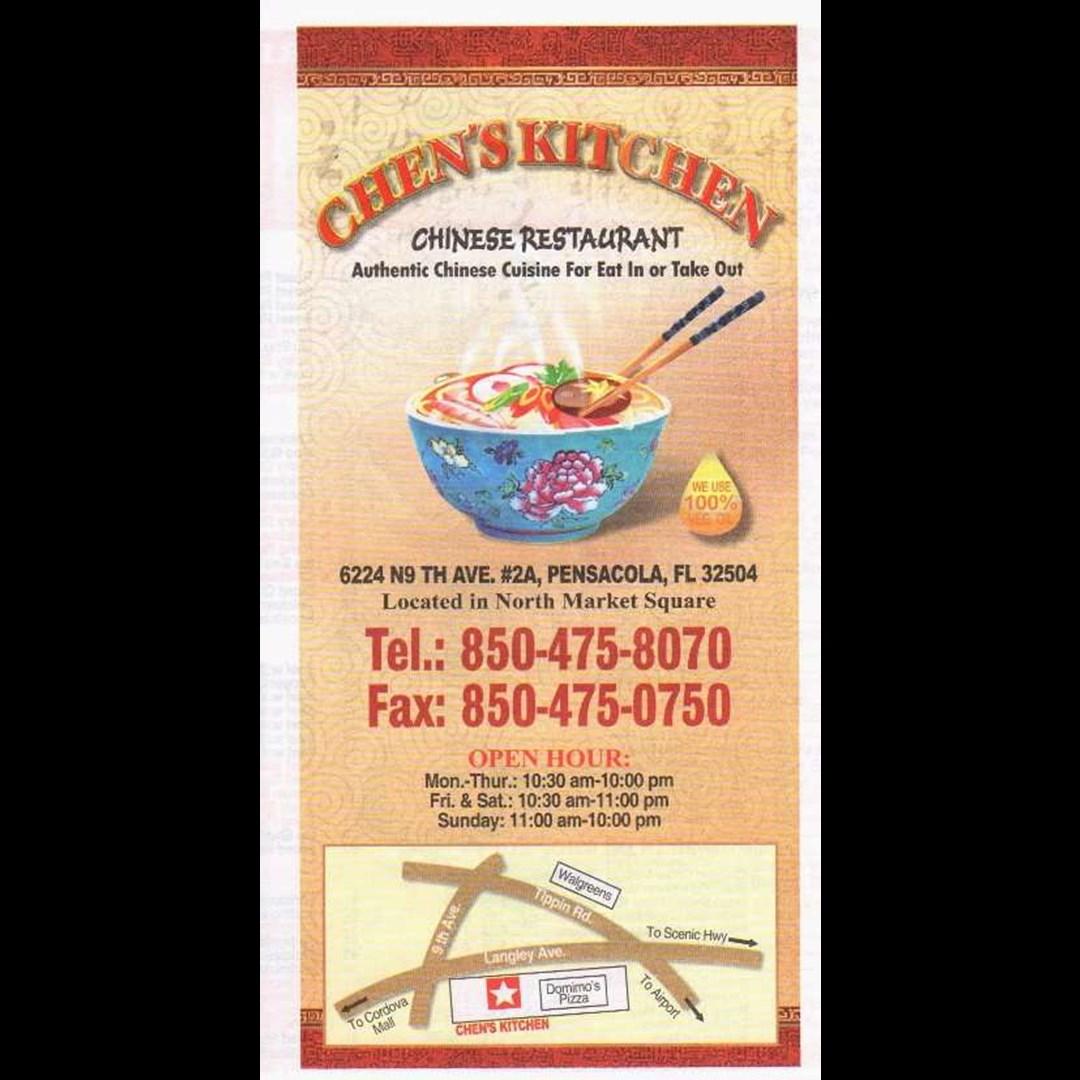 chen's kitchen  chinese restaurant  pensacola fl